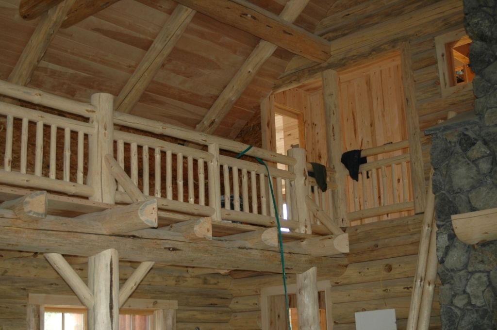 Railing Systems And Stairs The Natural Log Homes