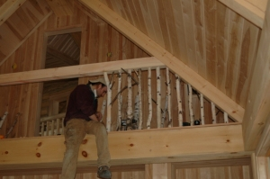 birch railing