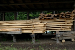 Red Pine rails and slabs