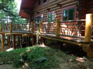 twig deck railing