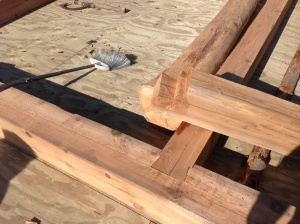 Western Red Cedar dovetail notched base frame